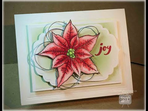Joyful Poinsettia Card Quick Video