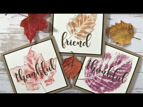 Stamping Real Leaves with Distress Oxide Inks