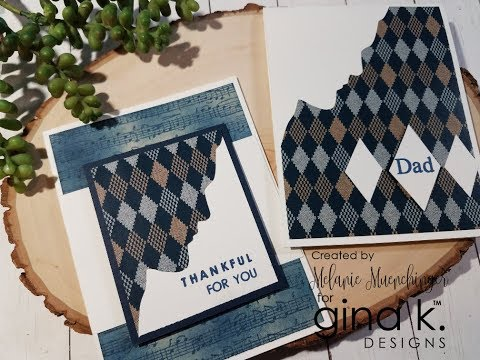 Faux Paper Piecing: Two Cards, One Cut!