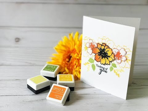 Craft Your Joy Card Tutorial: Sunflower Inspired Simple Card Design