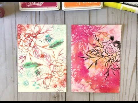 Craft Your Joy Card Tutorial: Watercolor Stamping on YUPO