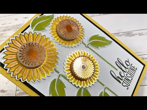 Autumn Stamp-n-Foil - Graphic Sunflowers