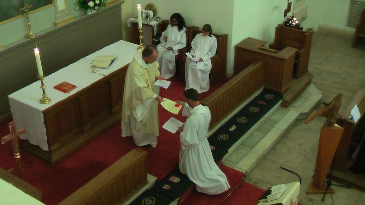 The Institution of the new chaplain at St Thomas Becket