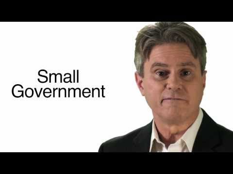 What We Believe, Part 1: Small Government and Free Enterprise.