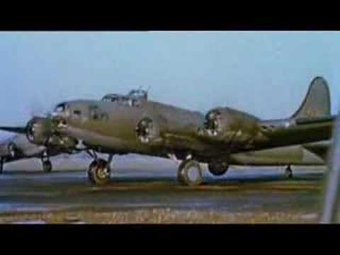 Color footage of spitfires and bombers during WWII