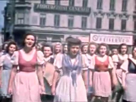 1944 Celebrations for Hitle's Birthday in Linz, Austria
