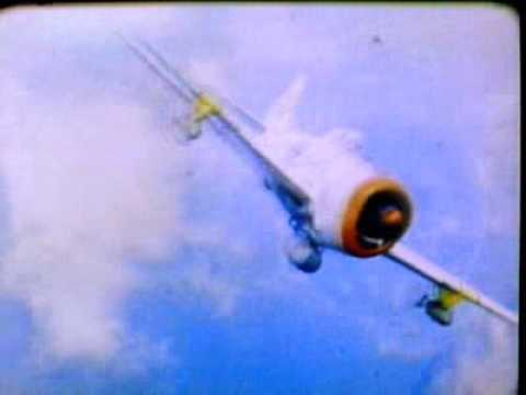 WW2 Shocking P-47 video,coloured and real