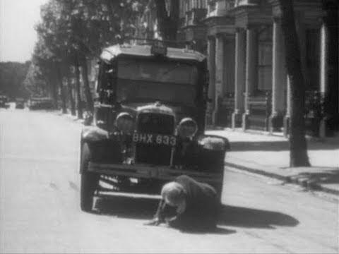 Pedestrian Crossing - 1948 Safety film teaching pedestrians how to cross roads.