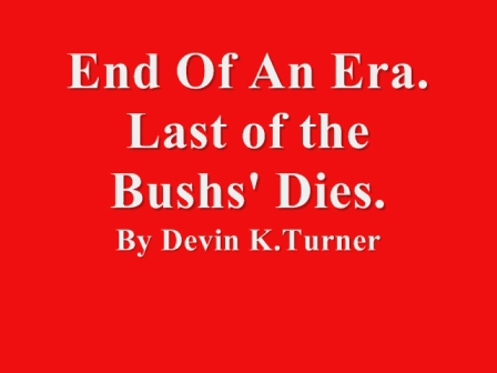 The End Of An Era-By Devin K.Turner