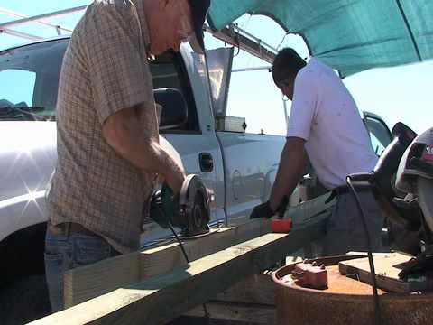 At Scott's Cove:  7/3/10  Longitudinal Board Port Side Part 1