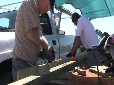 At Scott's Cove:  7/3/10  Longitudinal Board Port Side Part 1