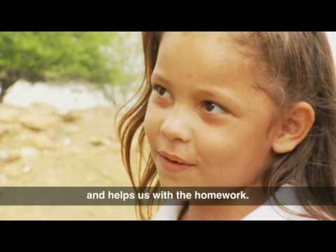 Biblioburro - a donkey library - visits Colombian children