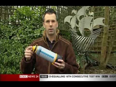 LIFESAVER Bottle Demonstration - BBC NEWS 24