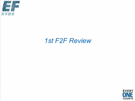 1st F2F Review