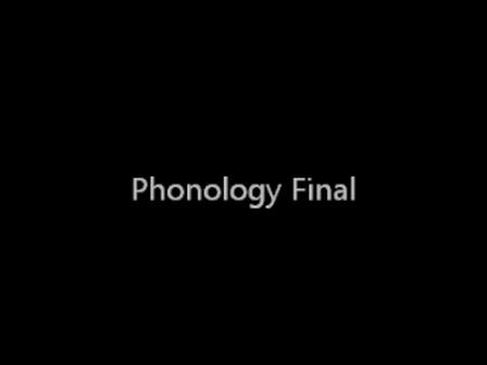 Phonology Final