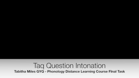 Tag  Question Intonation with Tabitha Miles