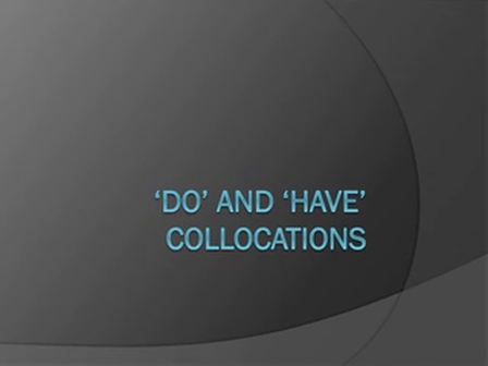 Collocation map - do and have