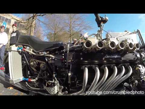 Caffeine and Octane 12/07/2014 December - Lamborghini motor custom motorcycle build