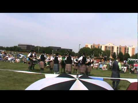 Pipes and Drums Compete - ISAS Scottish Festival June 18 2011