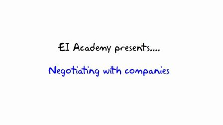 12. How to negotiate --- EI Academy