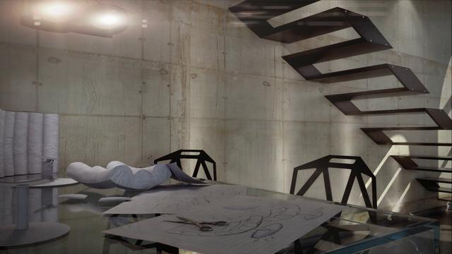 Krátka animácia interiéru