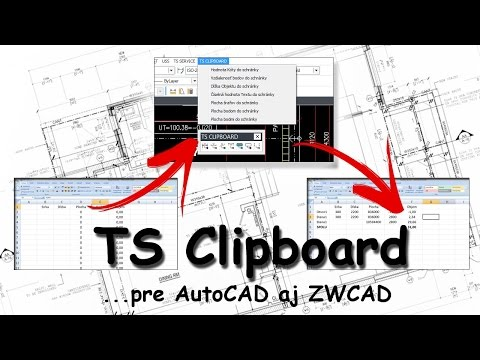 TS Clipboard - Free pre AutoCAD a ZWCAD