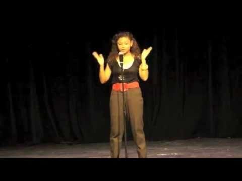 "Saika Pitre singing ""Pretty Girl Rock"" at ECHS Talent Show"