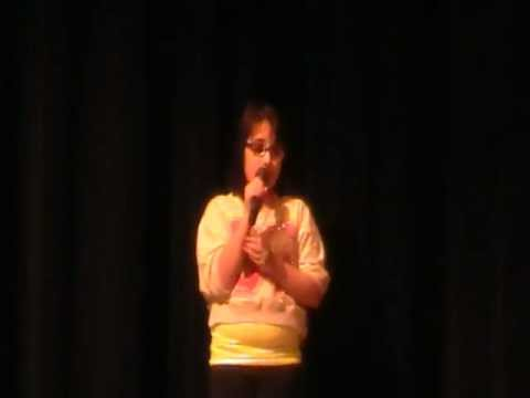 zoe alexa singing at timothy lutheran talent show