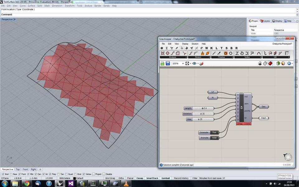 Quad mesh generation using Chebyshev Net algorithm.