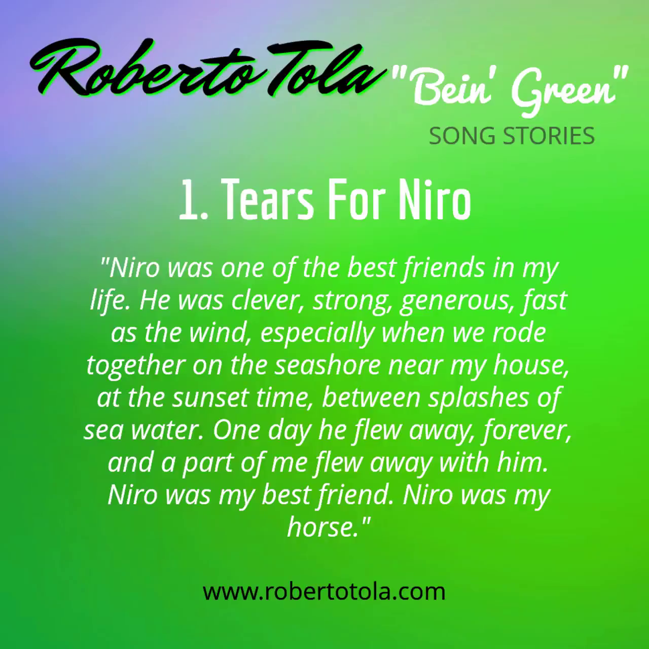 1. Tears For Niro (feat. Bill McGee)