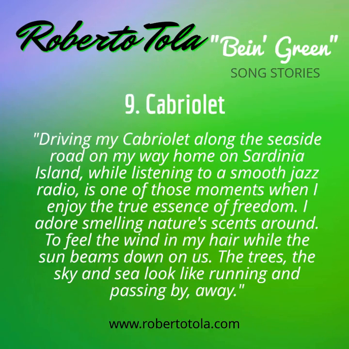 CABRIOLET - From The Album _Bein' Green_ by Roberto Tola