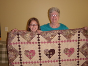 Woven Hearts Quilt for DGD, Maddie