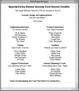 Special Extra Deluxe Groovy Secret Credits