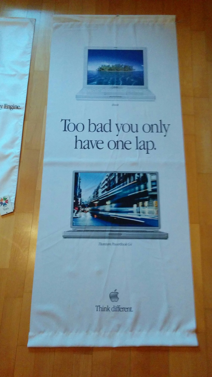 Store ad for iBook & Powerbook (in english)