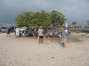 Big Island Tech Hui members enjoy a BBQ at NELHA beach park