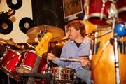 Steve on Drums - Carlisle Gig