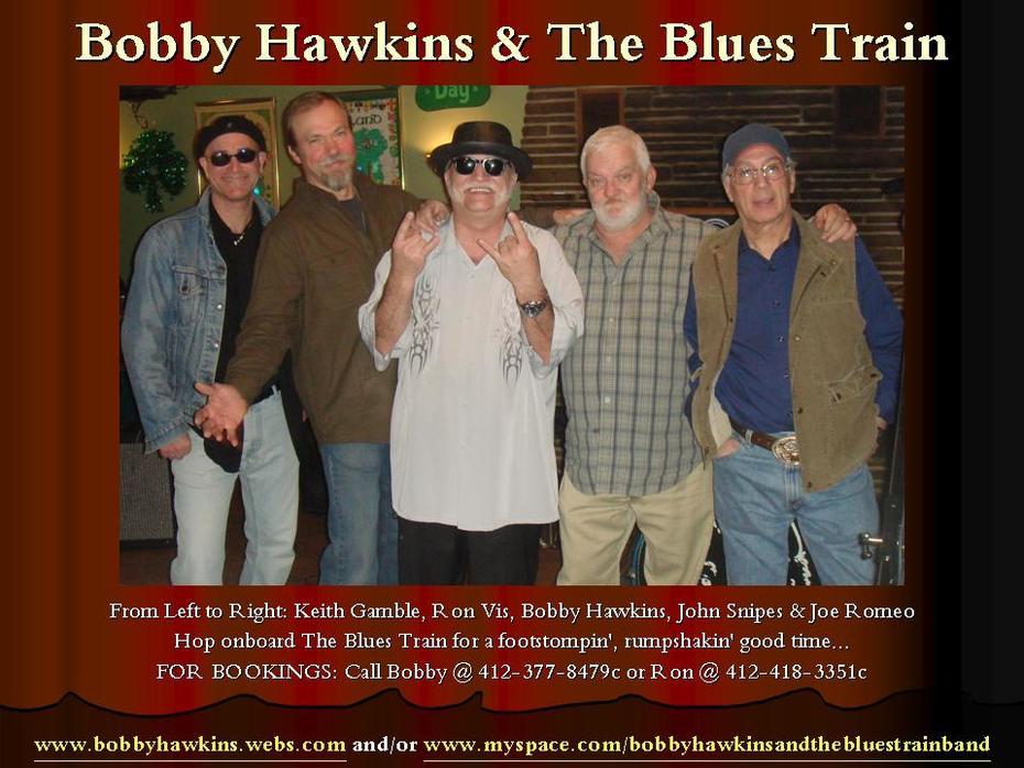 Bobby Hawkins & The Blues Train Flyer