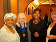Michele, Wendy, Sandra and Mrs Dowe MCG Jaz Awards 2013