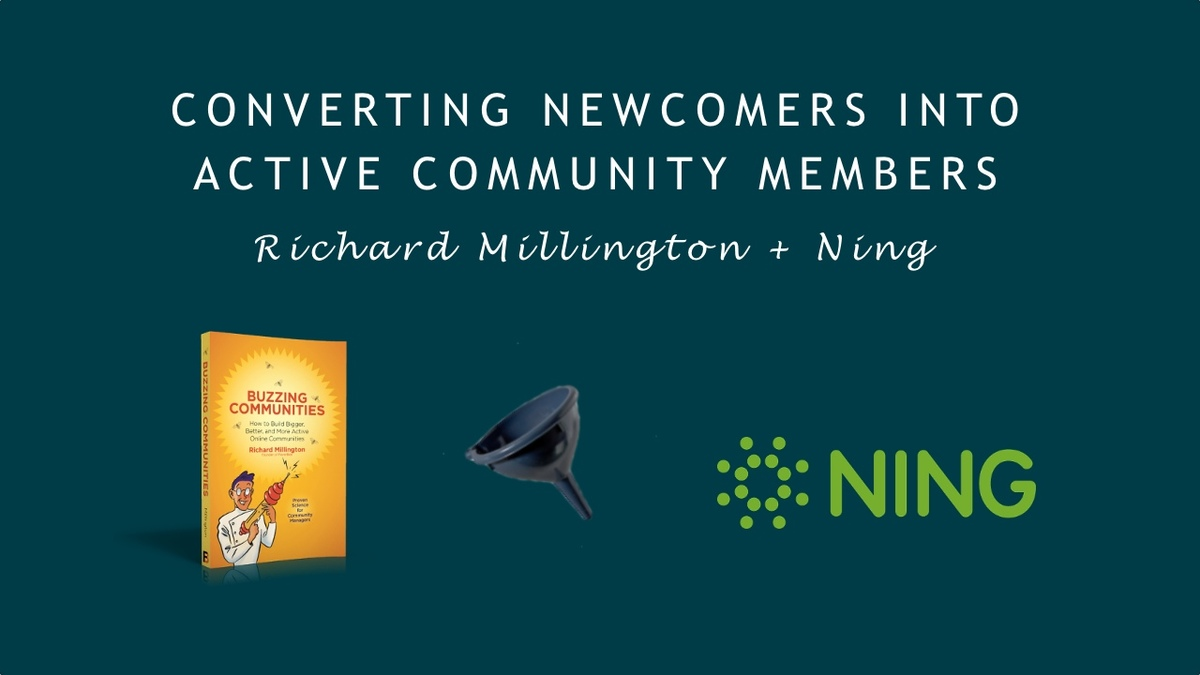Converting Newcomers Into Active Community Members [Video]