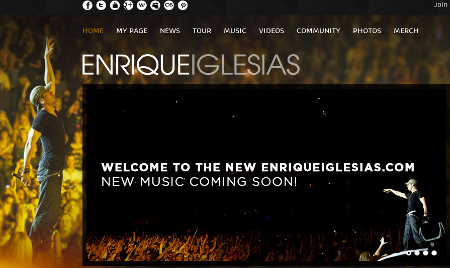 Community Spotlight: Enrique Iglesias Rocks Over a Decade of Fan Engagement to Become One of the 50 Most Influential Celebrities on the Internet