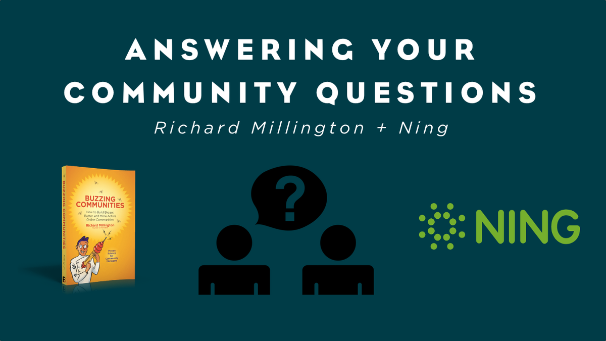 Richard Millington Answers Your Community Questions [Video]