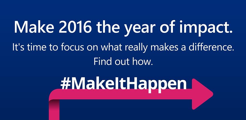 Make it Happen - Toward Maturity