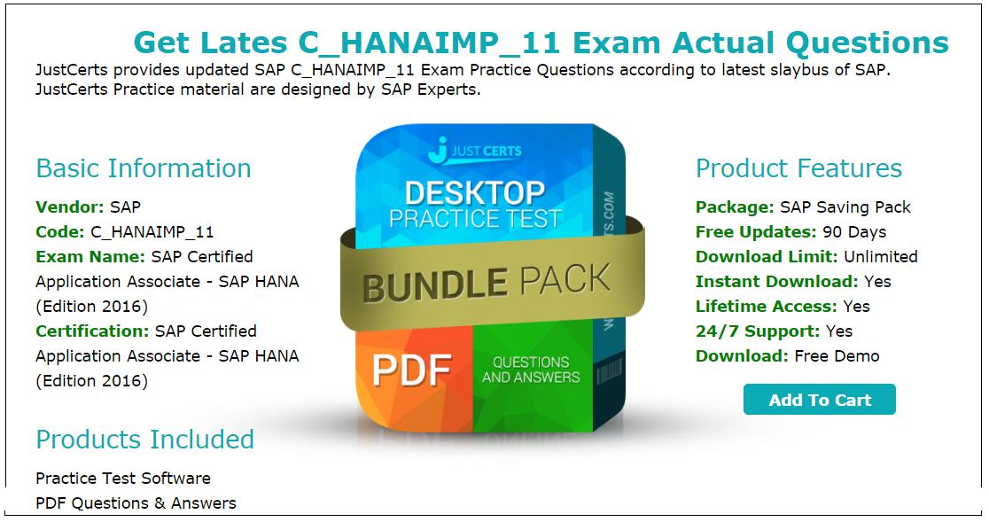 2016]New Update on C_HANAIMP_11 – SAP Certified Application