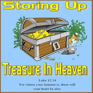 Image result for image storing treasures in heaven