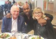 H.Lee Moffitt, Paul Anthony & Olivia Newton John.