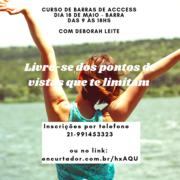 Curso de Barras de Access dia 18 de maio no Rio - Barra