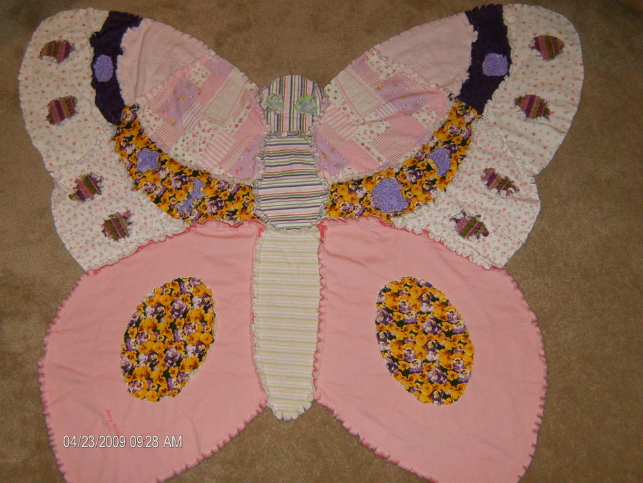Receiving blankets to Butterfly