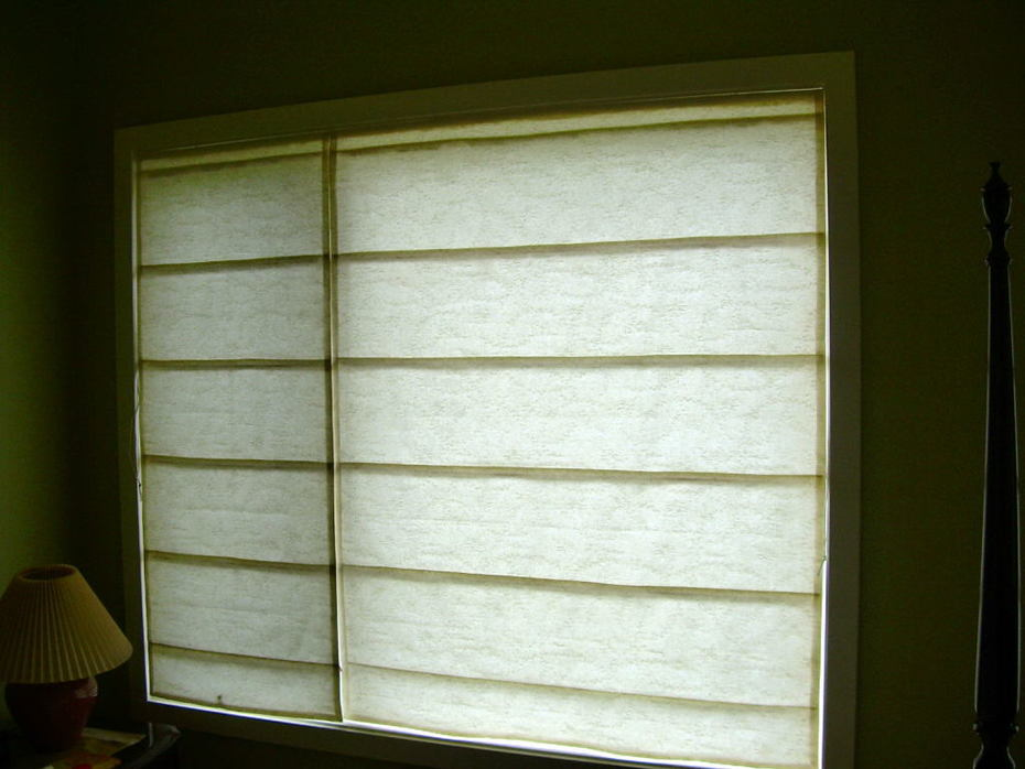 hemp/silk roman blinds