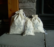 Reusable, Organic, Christmas Gift Bags