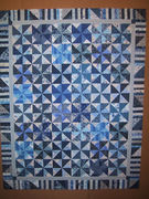 Blue and White Pinwheel